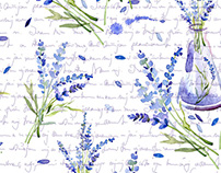 Illustration of lavender flowers.