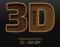 3D Wood – Photoshop Actions