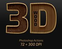 3D Wood – Photoshop Actions