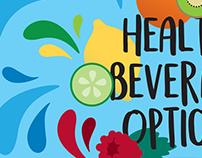 Healthy Beverage Ad Illustration