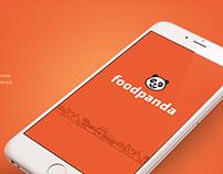 Foodpanda app IOS design