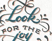 Look for Joy