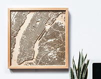City Wood - Laser Cut Wooden Maps