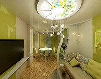 Дизан-проект квартиры,г. Гатчина, 2013г.