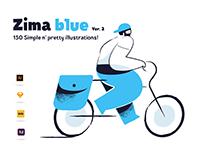 Zima Blue illustrations