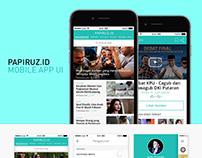 Papiruz.id Mobile App UI