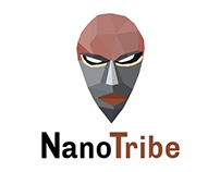 African tribal mask --Vector Polygon logo--