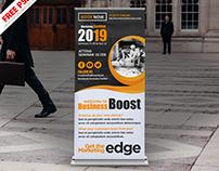 Corporate Seminar Roll-up Banner PSD Freebie