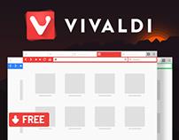 Free Vivaldi Browser PSD Mockup