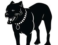 Black image of Pit Bull