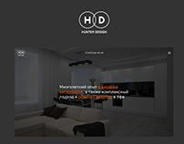 Сайт дизайн-студии Hunter Design