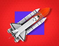 Social Media - Space Rocket - 2020