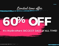 60% OFF - WpBrothers's BIGGEST SALE off ALL TIME!