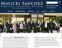 Malicki Sanchez Law - Web Design
