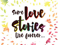 Love Story Typography