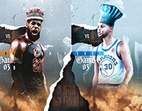 Warriors X Cavs Finals '18 Graphic