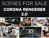 NEW CORONA RENDERER SCENES FOR SALE 2.0