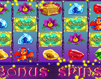 Animation and composing of slot games for casino.