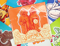 "WARHEAD STICKER PACK vol.01 "" SUMMER """