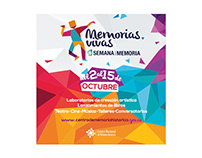 Logo design, poster design: Memorias vivas