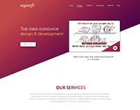 Web Design mockup for Argusoft