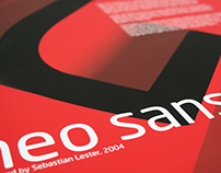 Neo Sans Pro Typeface Poster