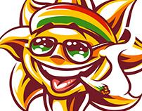 Funny Sun Character