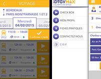Conception UX/UI iDTGV Max iPhone iOS et Android apps