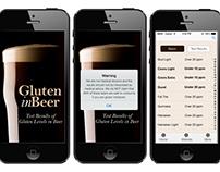 GluteninBeer mobile app design