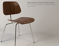 3d Model+Render DCM Chair (Eames)