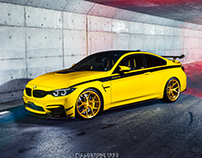 BMW M4 with Rohana Wheels RFX5 in Japan