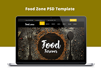 Food Zone PSD Template