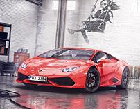 Lamborghini Huracan-scene