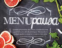 SAÚDE Mag | Menupause (chalkboard lettering)