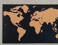 Mapa Mundi cortiça