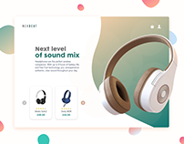 Nexbeat - Freebies Adobe XD Template