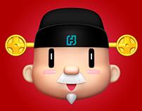 Fubon God of Wealth 2017 富邦財神新年視覺