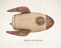 Adobe 3DStock - Wooden rocket toy