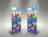 Kids Summer Camp Signage Roll Up Banner Template