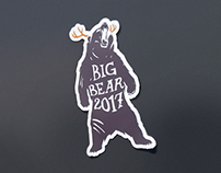Big Bear 2017 Commemorative Die-Cut Sticker