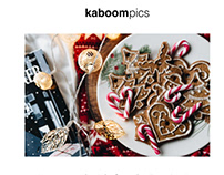 Kaboom pics Newsletter Email Template Design