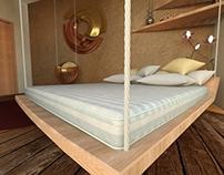 3d interior - bedroom project