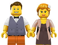 MinifigU2 Custom Illustrated People