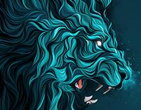 Panthera leo.