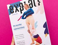 Couverture de magazine expérimentale