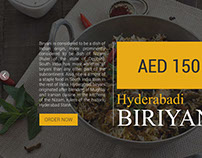 Restaurant Website Flat UI Design