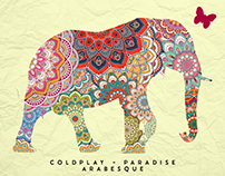 Coldplay - Paradise Reposter Arabesque Style