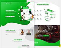 Coachme | Landing page design & Development