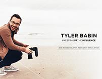 Tyler Babin | 2019 Adobe Creative Residency Application