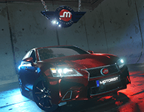 3D Render Car and Logo